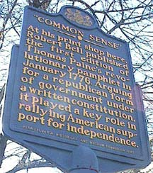 historic marker in Philadelphia
