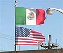 Mexican-US flags