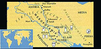 Map of ancient Sumer