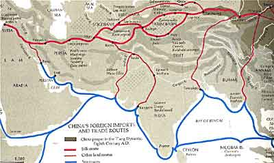 Tang dynasty the golden age ushistory chinese trade routes during the tang dynasty sciox Choice Image