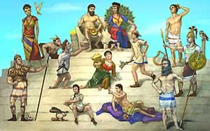 Image result for where did greek gods live