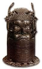 Memorial head cast in bronze, Kingdom of Benin in present-day Nigeria
