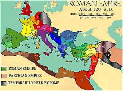 Ancient Rome Ushistoryorg - Rome map cartoon