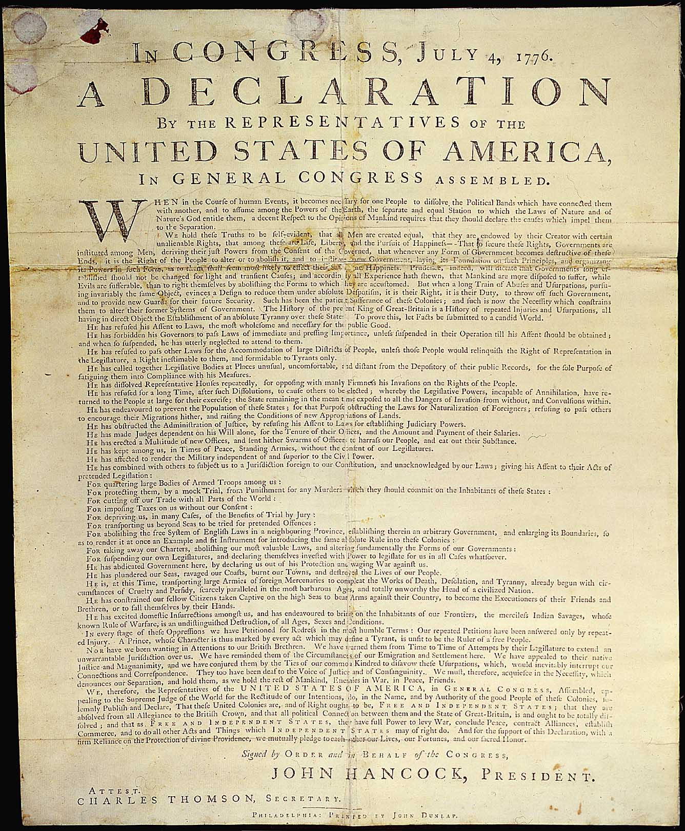 It is an image of Shocking Printable Copy of the Declaration of Independence