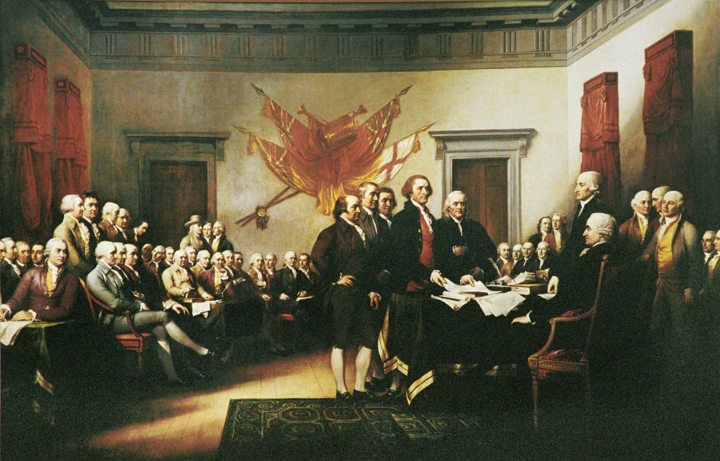 "John Trumbull's ""Declaration of Independence, July 4, 1776"" (Image from history.org)"