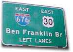 Ben Franklin Bridge Sign