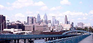 View of Philly from Ben Franklin Bridge
