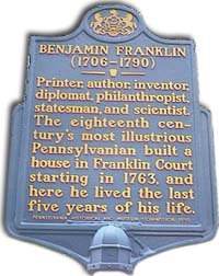 Franklin plaque