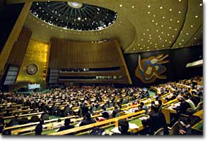 Opening session of the UN General Assembly.