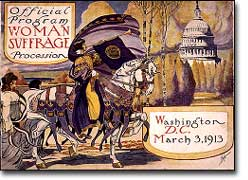 Invitation to a suffragist parade, 1913
