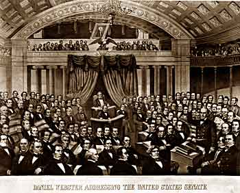 Daniel Webster addressing the Senate