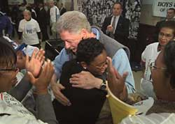 Clinton at Boys and Girls Club