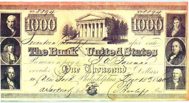 Bank Of The United States Notes