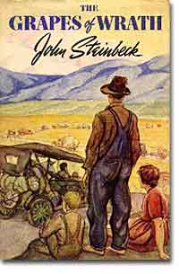 an analysis of the hardships in the novel grapes of wrath by john steinbeck Steinbeck may also have chosen the grapes of wrath for his title because his novel has to do with fruit pickers, though not necessarily grape pickers it's a novel about okies during the depression.