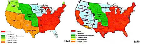 Territorial Expansion Of The United States In The Th Century - Us map 1840