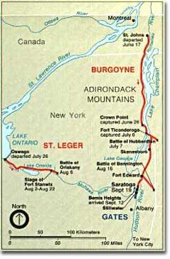 Burgoyne's route