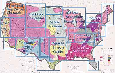 map of native american groups