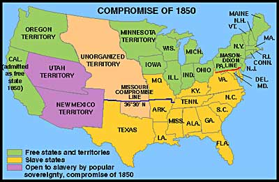 compromise of 1850 map
