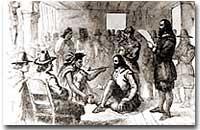 Massasoit's treaty with the Pilgrams